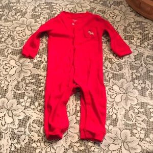 Carter's Holiday One Pc Jammies 9 mo